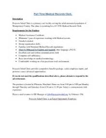Exle Of Records Resume by Resume For Records Clerk 100 Images Records Clerk