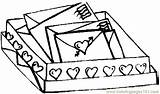 Letters Coloring Pages Valentines Coloringpages101 Valentine sketch template