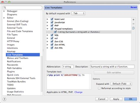 php using string templates labs using phpstorm s live templates for t functions