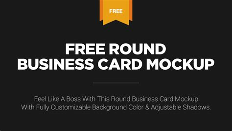 Free Stylish Round Business Card Mockup On Behance Modern Business Card Graphic Design Best Generator Dollar Tree Holders American Express Gold Travel Insurance Folders With Grid For Slits Flash Drive