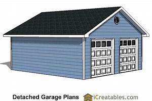 22x22 2 car 2 door detached garage plans for 22x22 garage kit