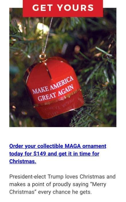 trump christmas ornament ornaments cheaply expensive hilarious response selling president internet amazon merry gets