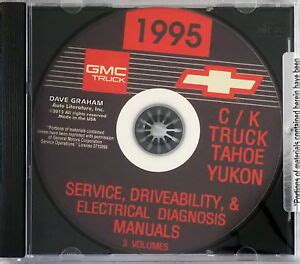 service and repair manuals 1995 chevrolet tahoe on board diagnostic system 1995 chevy gmc pickup truck suburban tahoe yukon factory shop service manual cd ebay
