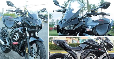 Modified Gixxer Bike by Awesomely Modified Suzuki Gixxer With Yamaha R3 Inspired