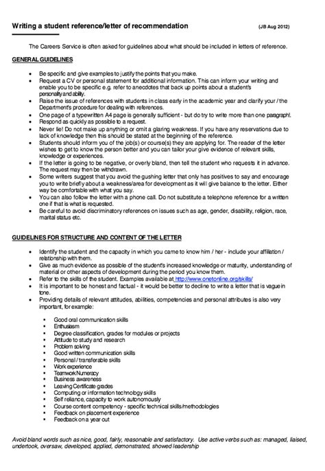 Write Resume Letter Recommendation by Writing A Student Letter Of Recommendation Http