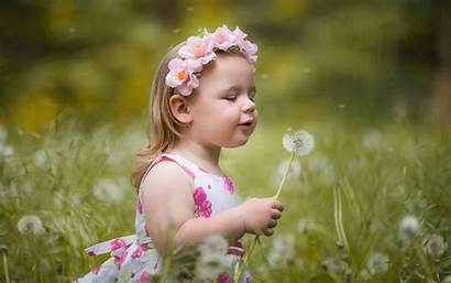 Wallpapers Child Flowers Summer Background Babies Backgrounds