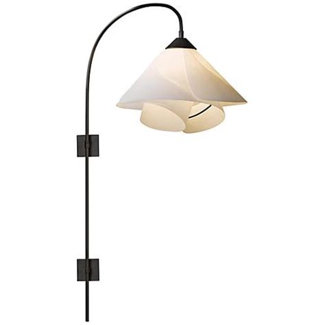 hubbardton forge bronze pin up swing arm wall l