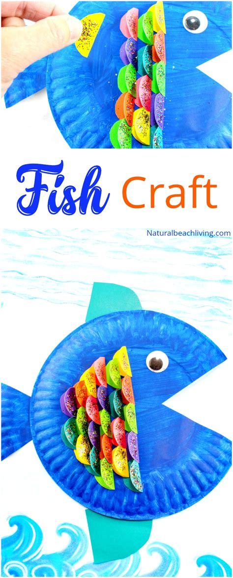 preschool under the sea crafts paper plate fish craft for 403