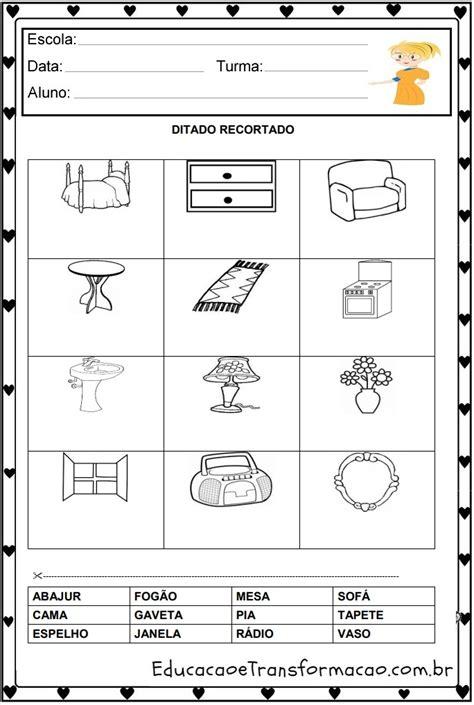 atividade pronta ditado desenhado portugus t