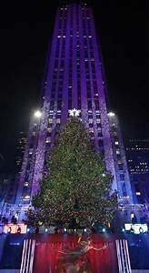New York - Rockefeller Christmas tree lights up - Pictures ...