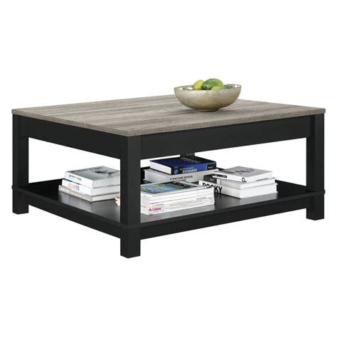 The denver dark oak coffee table comes fully assembled which means there are no visible joins. Dorel Carver Coffee Table, Black & Weathered Oak | Coffee ...