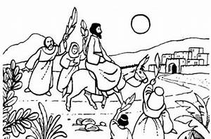 Jesus On A Donkey Black And White Clipart U0026 Clip Art