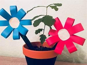 Blumen Basteln Kinder : kleine einfache blumen basteln mit kindern der familienblog f r kreative eltern ~ Frokenaadalensverden.com Haus und Dekorationen