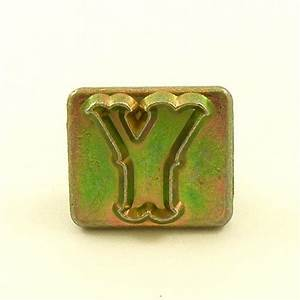 20mm decorative letter y embossing stamp artisanleather for Leather embossing letters