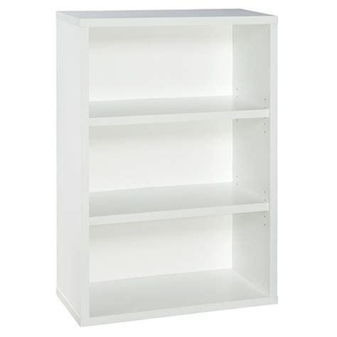 closetmaid bookcase 3 shelf bookcase 44 quot white closetmaid target