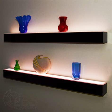floating wall shelf 1 tier led floating shelf led lighted floating bar