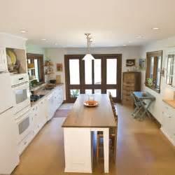 Narrow Kitchen Island Narrow Island Design Wood Top Kitchen