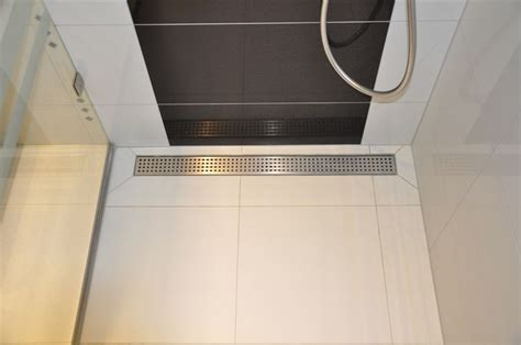 linear stainless steel shower drains  grate  mm