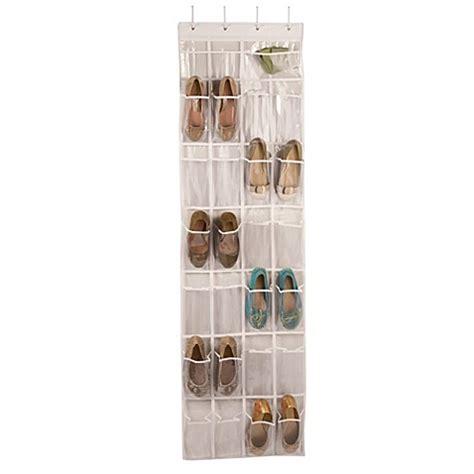 door shoe organizer closetware the door 24 pocket shoe organizer bed