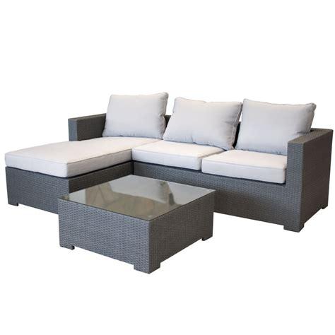 polyrattan lounge grau garten lounge aus polyrattan gartencouch sofa grau mit kissen wetterfest ebay