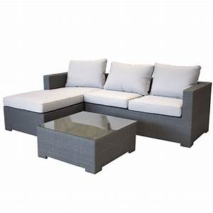 Polyrattan Lounge Grau : garten lounge couch aus polyrattan gartencouch sofa grau mit kissen wetterfest ebay ~ Indierocktalk.com Haus und Dekorationen
