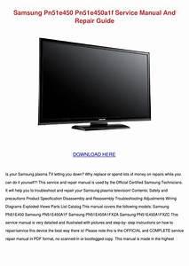 Samsung Pn51e450 Pn51e450a1f Service Manual A By