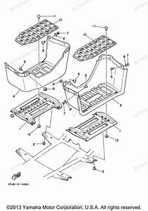 Yamaha Atv 2003 Oem Parts Diagram For Stand  Footrest
