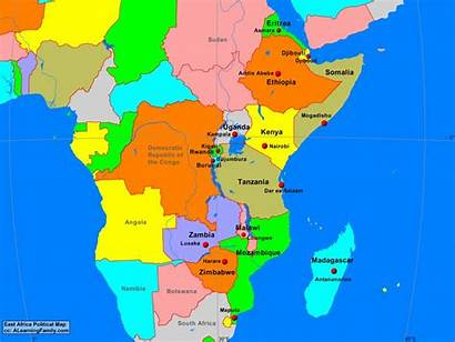 Africa East Region Map Countries Clubs Economic