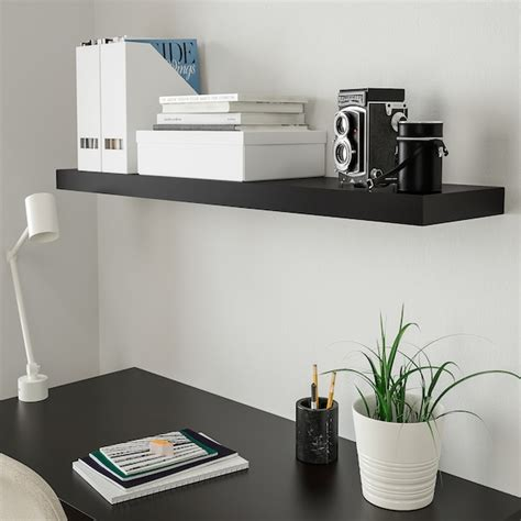 lack wall shelf black brown    ikea