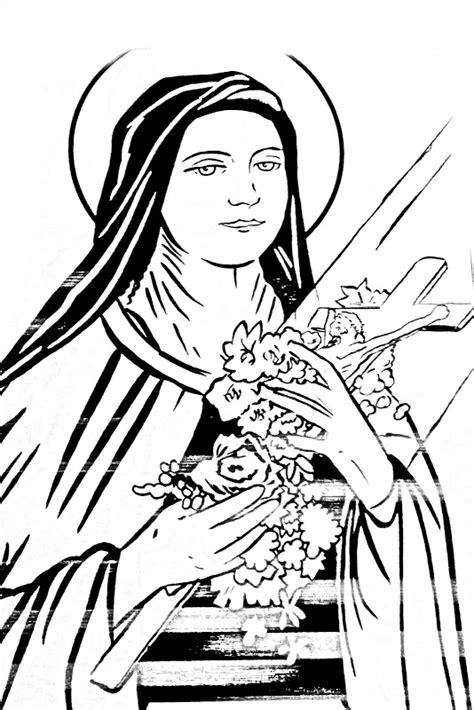 ste da colorare st therese of the child jesus coloring pages coloring pages