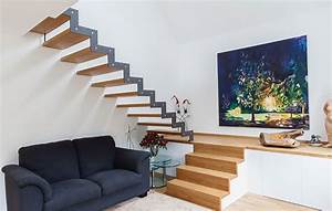 Halbgewendelte Treppe Mit Podest : treppenbau schmidt plz 56462 h hn treppe aus holz und stahl mit podest finden sie ~ Markanthonyermac.com Haus und Dekorationen