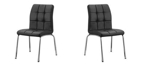 chaise salle a manger noir chaise capitonnée en simili cuir noir à prix canon