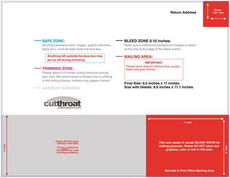 usps postcard template 8 5 x 5 5 cutthroat printprint your postcards at cutthroat print