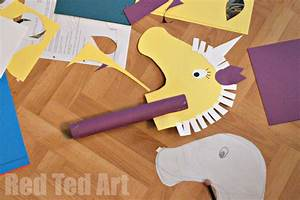 Unicorn Hobby Horse Craft - Red Ted Art's Blog