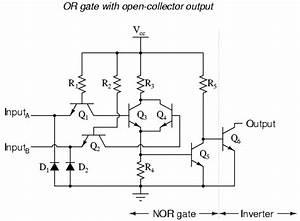 ttl nor and or gates logic gates electronics textbook With circuit logic gates