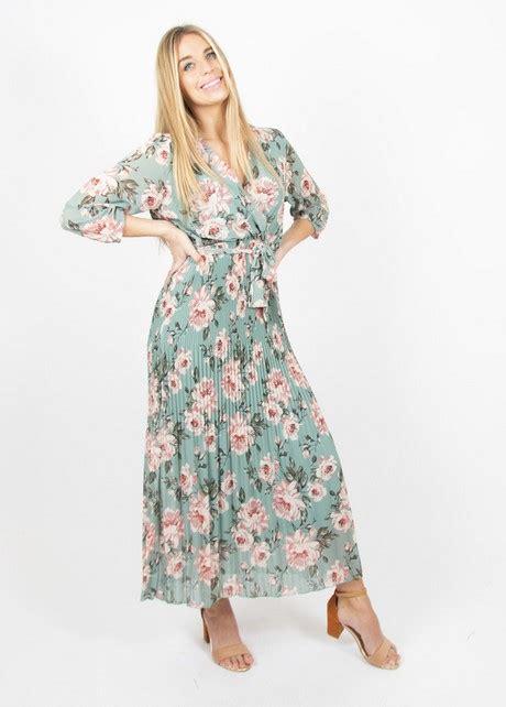 maxi dress met bloemen