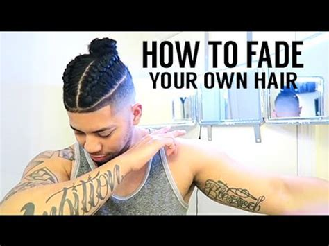 HOW TO FADE YOUR OWN HAIR! SAMURAI BRAIDED TOP KNOT/ MAN