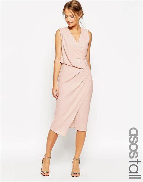 asos drape dress asos wedding wrap drape midi dress shopstyle
