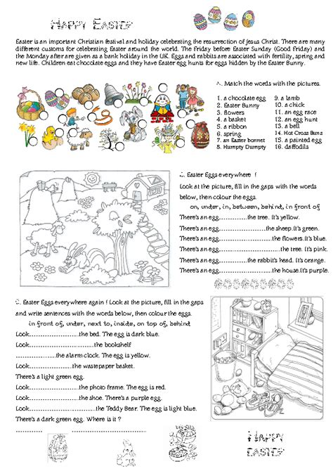 67 free easter worksheets printables coloring pages