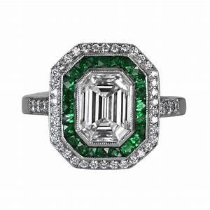 emerald cut diamond ring With diamond emerald wedding ring