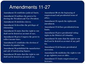 All 27 Amendments Constitution