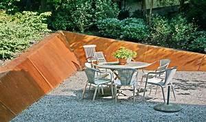 Metall Im Garten : metall werk z rich ag stahlverkleidung von garten st tzmauer ~ Lizthompson.info Haus und Dekorationen