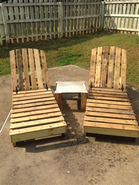 diy pallet outdoor lounge chair poolside chair