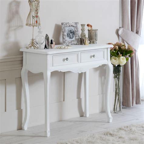 console chambre a coucher bois blanc console coiffeuse chic rétro rustique chambre à