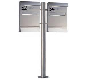 design briefkasten freistehend heibi doppel briefkasten malypso kombi 64496 072 edelstahl postkasten freistehend mit 1