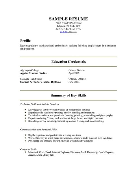 how to write about me in a resume resume template exle