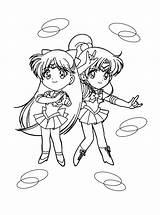 Sailor Moon Coloring Pages Chibi Jupiter Venus Sailormoon Printable Colouring Hellokids Fun Sheets Votes Moons Books sketch template