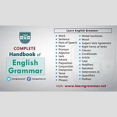 Complete Handbook Of English Grammar  Learn English