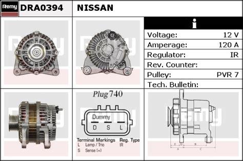 Alternator Fits Nissan Tiida Hrde Remy