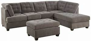3 discount gray microfiber sectional sofa set with With sectional sofa sets for cheap